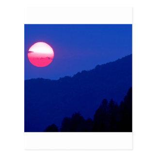 Montaña ahumada Tennessee de la puesta del sol Postales