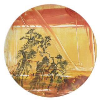 Montaña amarilla del Shan de Huang Plato
