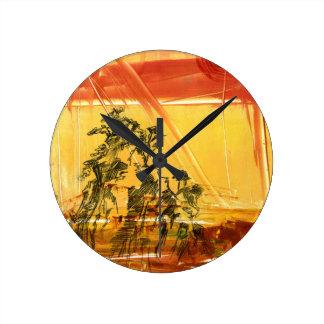 Montaña amarilla del Shan de Huang Reloj De Pared