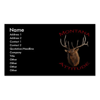 Montana Attitude Double-Sided Standard Business Cards (Pack Of 100)