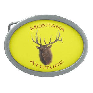 Montana Attitude Oval Belt Buckle