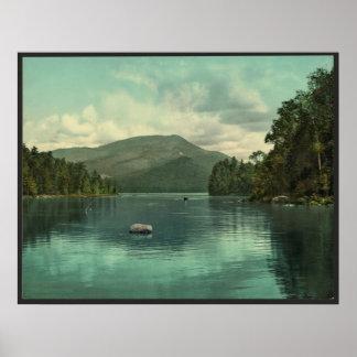 Montaña azul del lago eagle, escena de Adirondack Impresiones
