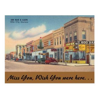 Montana, barra 600 y café, millas de ciudad postal