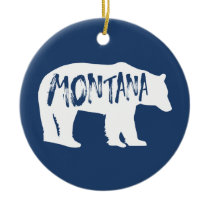 Montana Bear Ceramic Ornament