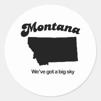 Montana - Big sky Classic Round Sticker