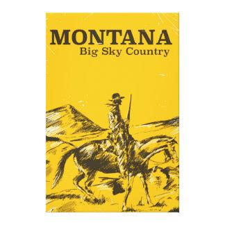 Montana Big sky Country vintage travel poster Canvas Print
