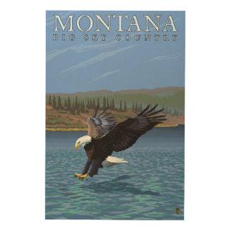 Montana -- Big Sky CountryDiving Eagle Wood Print