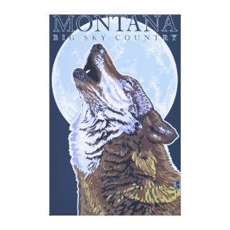 Montana -- Big Sky CountryHowling Wolf Canvas Print