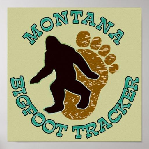 Montana Bigfoot Tracker Poster