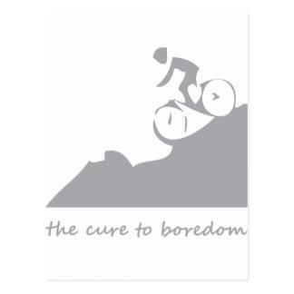 Montaña biking la curación al aburrimiento postales