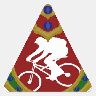 Montaña Biking.png de Mauricio Pegatina Triangular