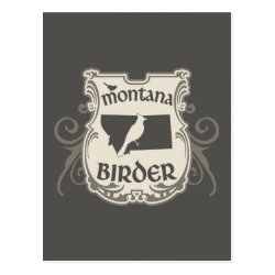 Postcard with Montana Birder design