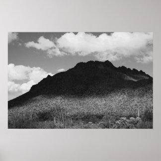 Montaña blanco y negro posters