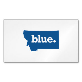 MONTANA BLUE STATE MAGNETIC BUSINESS CARD