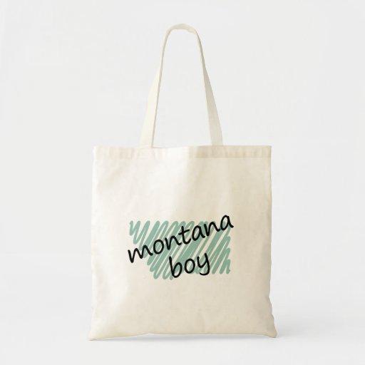 Montana Boy on Child's Montana Map Drawing Bags
