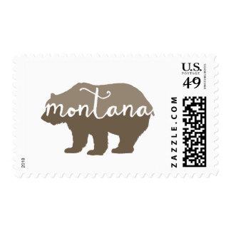 Montana brown bear postage