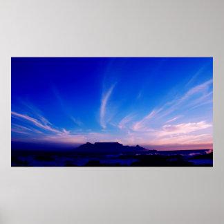 Montaña Cape Town RSA de la tabla Impresiones