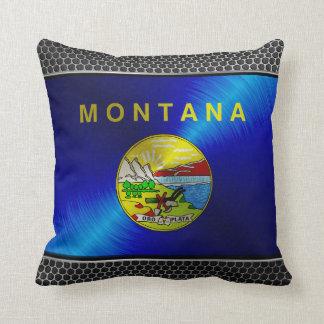 Montana cepilló la bandera del metal cojines