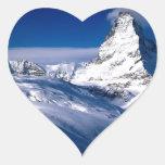 Montaña Cervino Valais Suiza Calcomania Corazon
