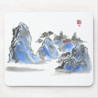 Montaña china azul Mousepad Tapetes De Ratón