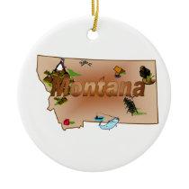 Montana Christmas Tree Ornament
