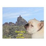 Montaña con actitud postal