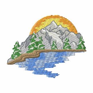 Montaña con el río