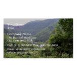 Montaña con los árboles imperecederos tarjetas de visita