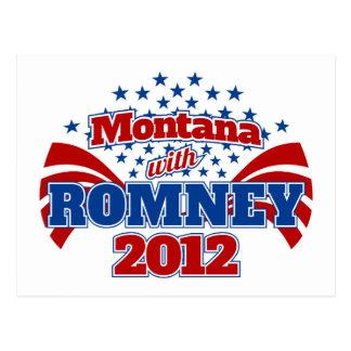 Montana con Romney 2012 Postal