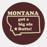 Montana consiguió una mota (vieja) vieja grande pegatinas