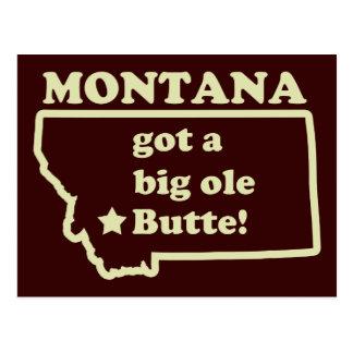 Montana consiguió una mota (vieja) vieja grande tarjetas postales