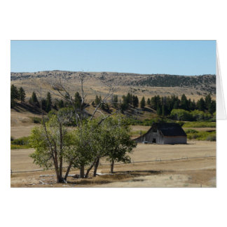 Montana Countryside Greeting Card