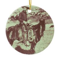 Montana Cowboy, c.1880 (b/w photo) Ceramic Ornament