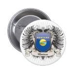 Montana Crest 2 Inch Round Button