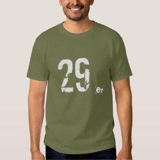 montaña de 29er MTB Biking la camiseta oscura Playera