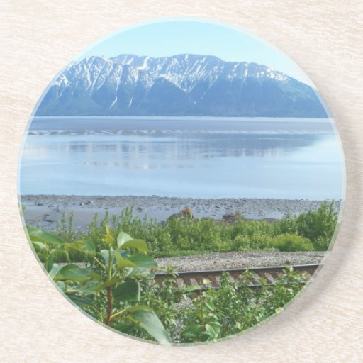 Montaña de Alaska a lo largo del brazo de Turnagai Posavasos Diseño