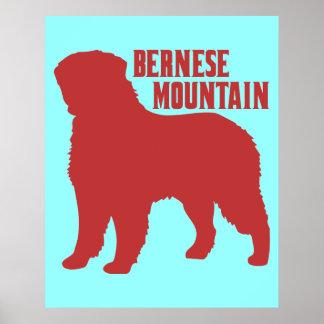 Montaña de Bernese Póster