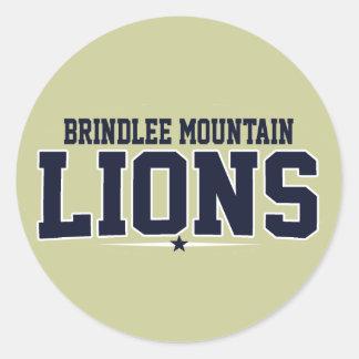 Montaña de Brindlee; Leones Etiquetas Redondas