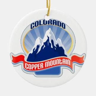 Montaña de cobre Colorado Adorno Redondo De Cerámica