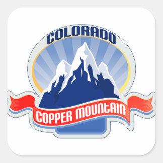 Montaña de cobre Colorado Pegatina Cuadrada