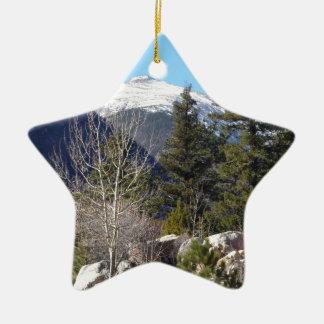 Montaña de Colorado Adorno Navideño De Cerámica En Forma De Estrella