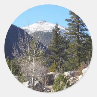 Montaña de Colorado Pegatina Redonda
