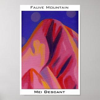 Montaña de Fauve Poster