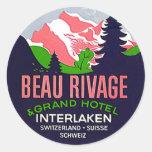 Montaña de Interlaken Suiza de los pegatinas del Etiquetas Redondas