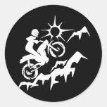 Montaña de la bici de la suciedad etiqueta redonda
