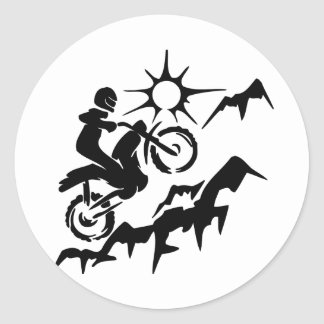 Montaña de la bici de la suciedad pegatina redonda