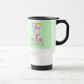 Montaña de la camiseta del regalo de los libros taza de viaje de acero inoxidable