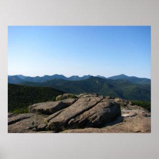 Montaña de la cascada, Adirondacks Póster
