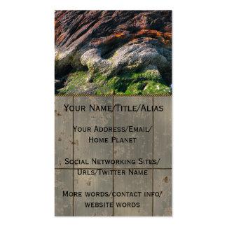 Montaña de la escoria de la lata tarjetas de visita