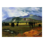Montaña de la fosa, New Hampshire Bierstadt Poster